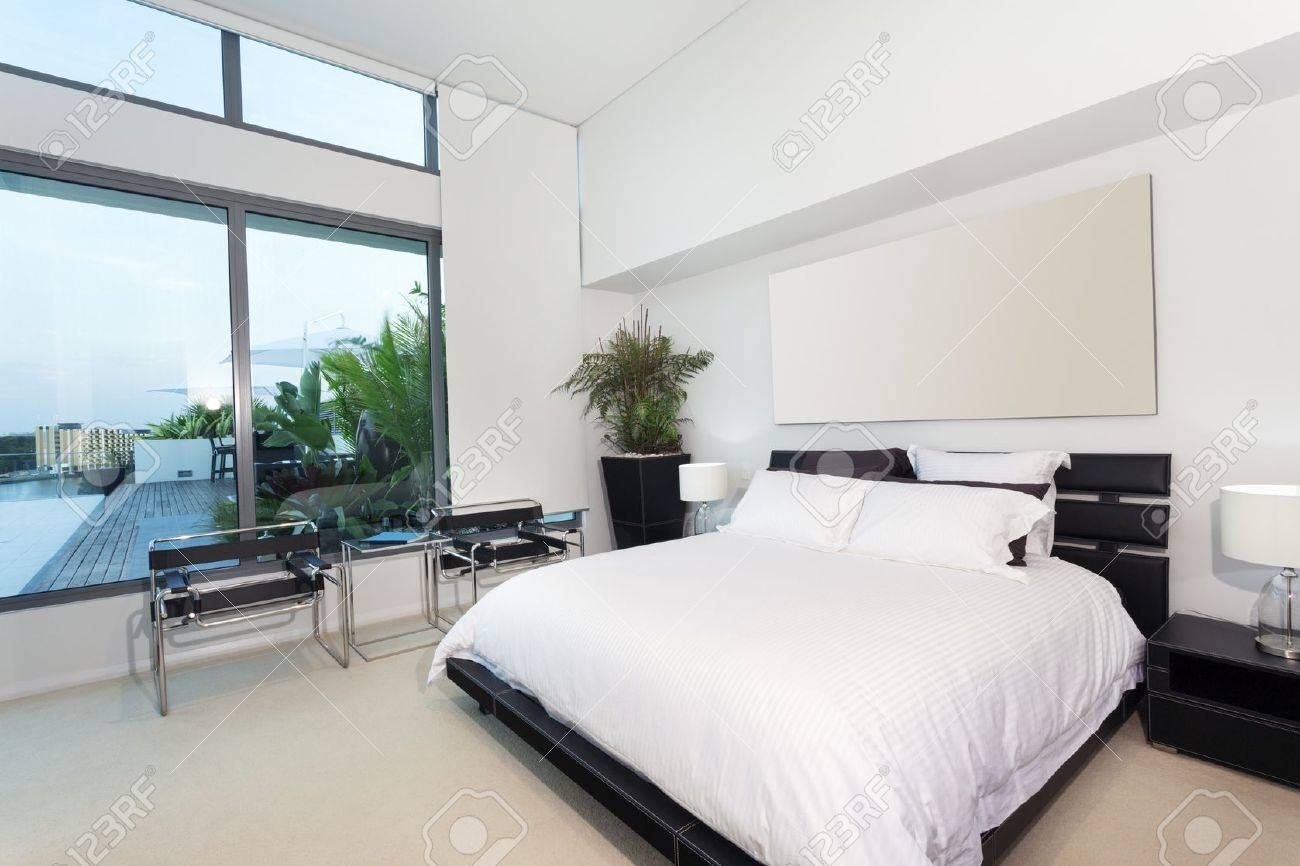 Chambre à Coucher Moderne Dans Un Appartement De Luxe