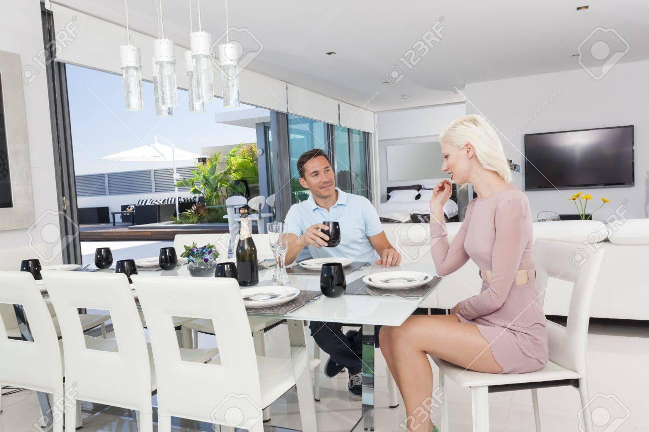 Attractive couple in luxury apartment Stock Photo - 18936991