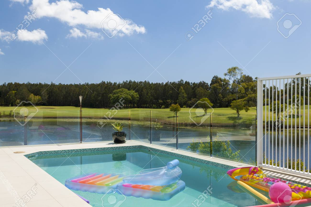 Luxury waterfront living with swimming pool, floats and Inflatable..