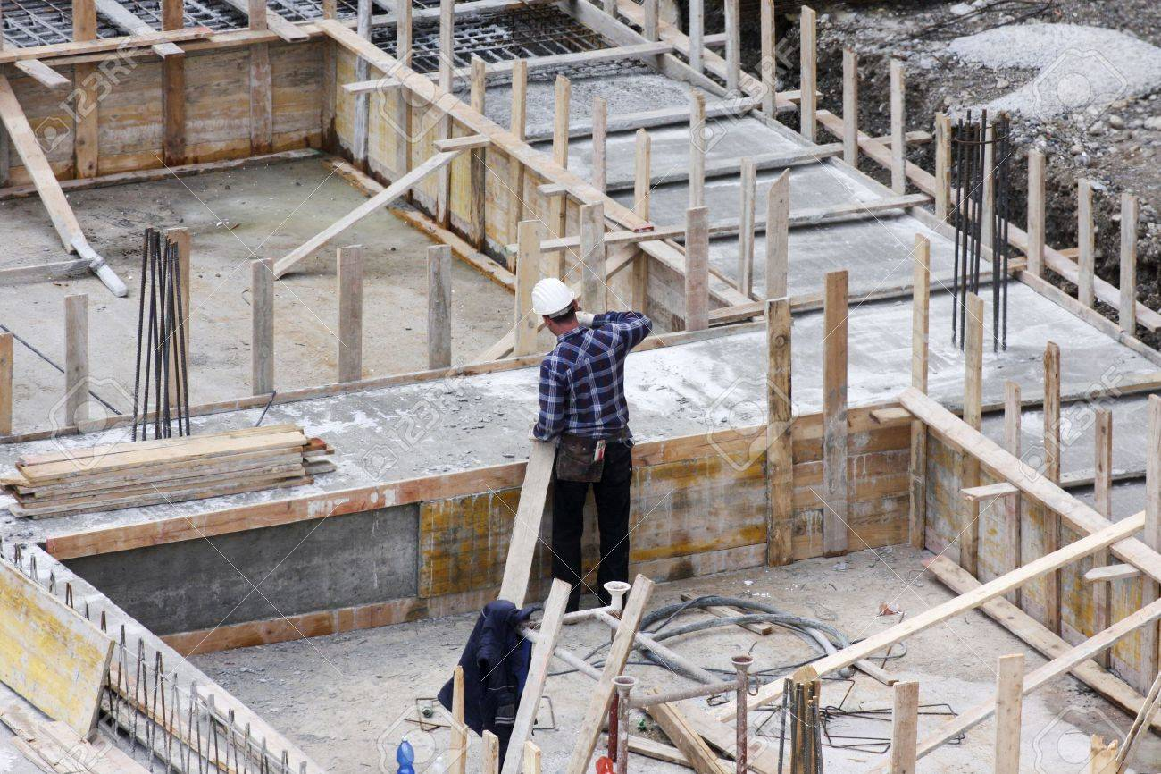 Carpenter at work on site Stock Photo - 20289250