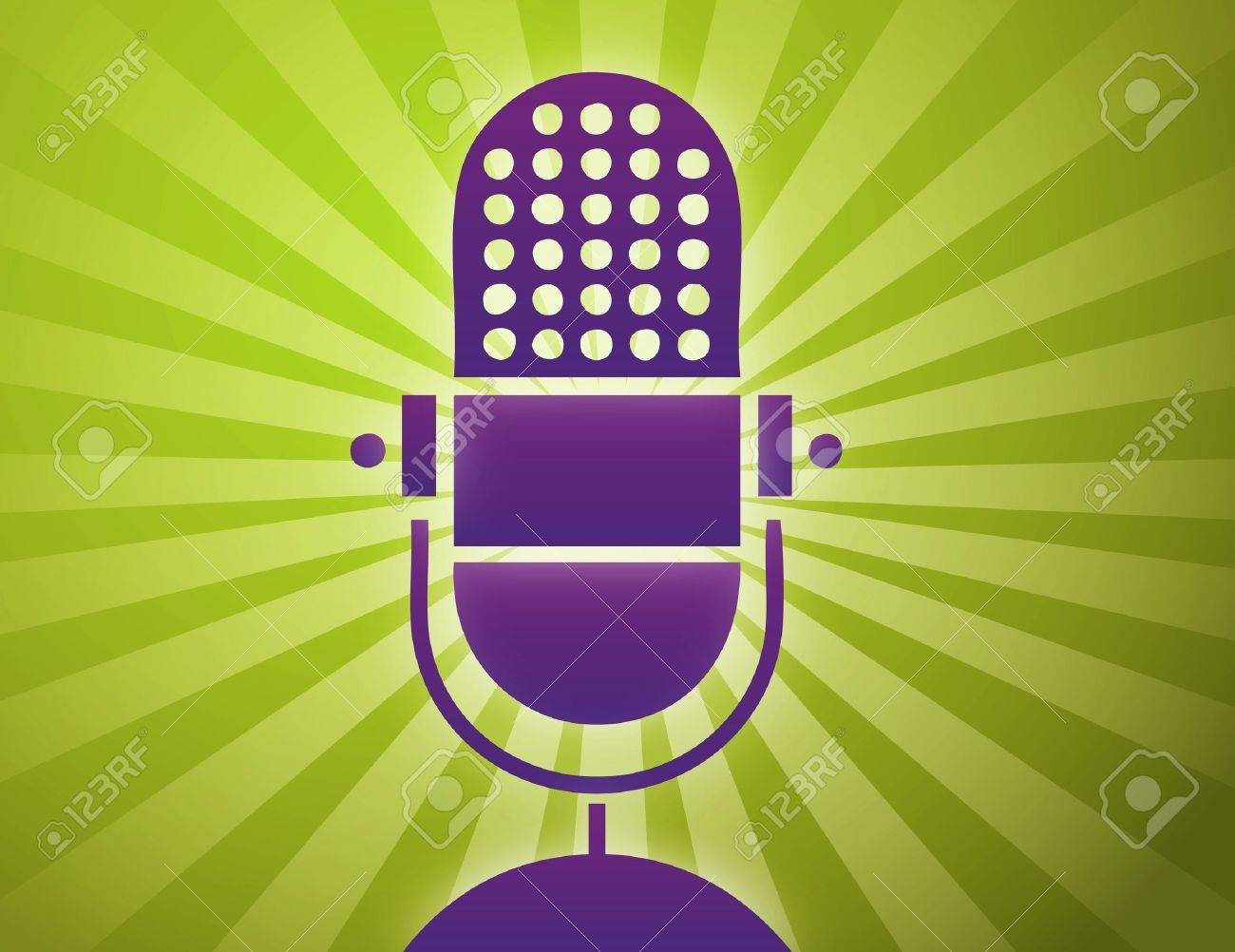 Vector illustration of retro microphone Stock Vector - 9492778