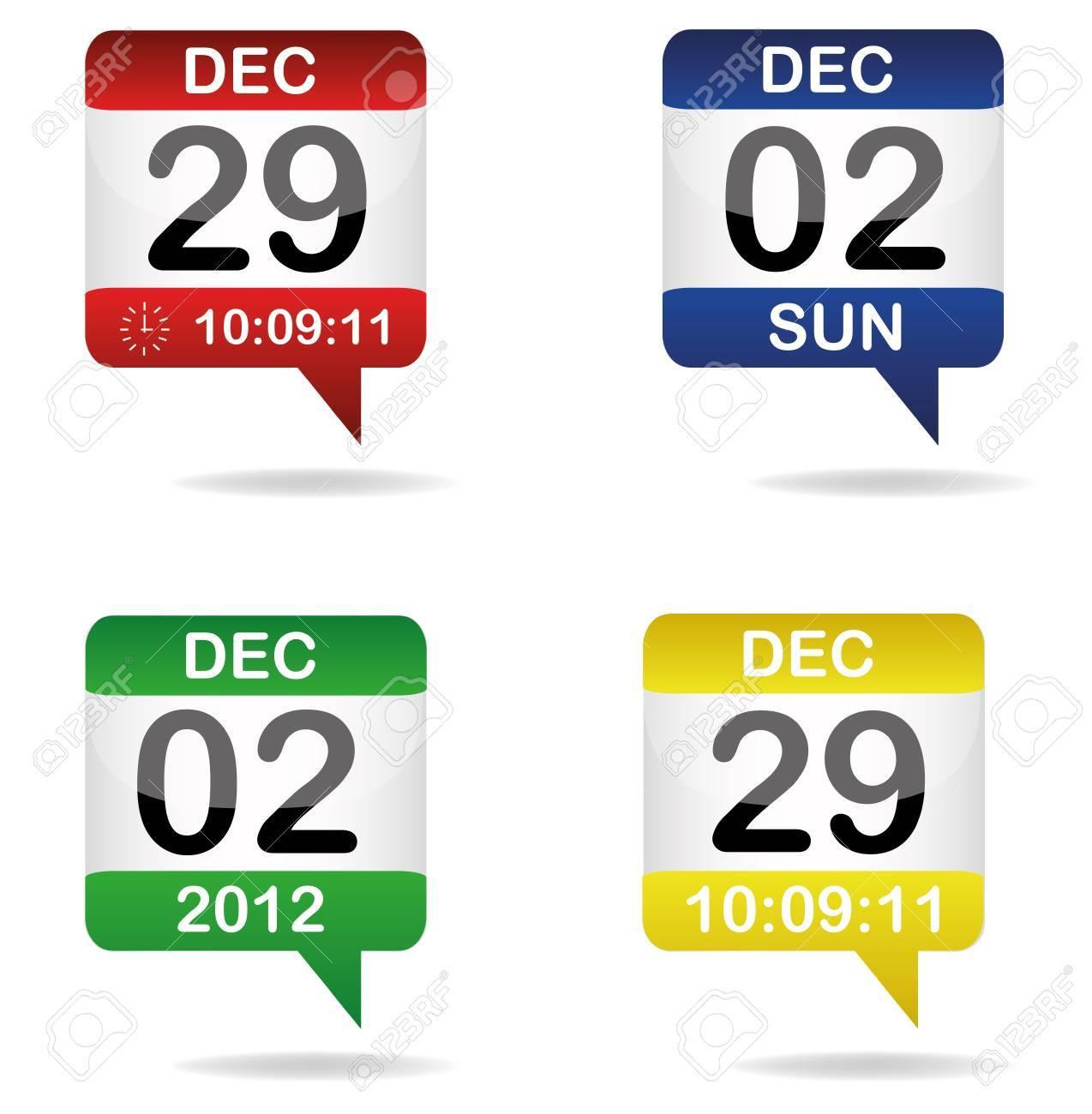 set of calendars Stock Vector - 12531642