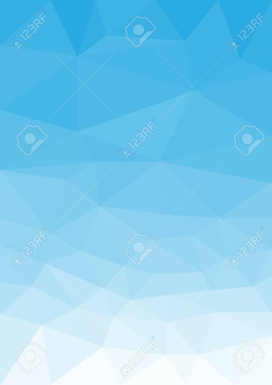 Blue sky in low poly style, portrait orientation - 37408288
