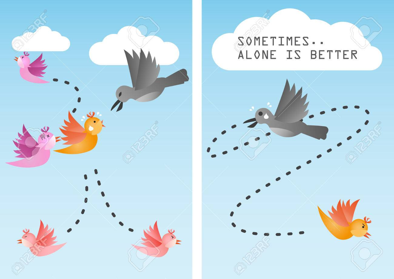 Sometimes it is better to be alone - 37493562