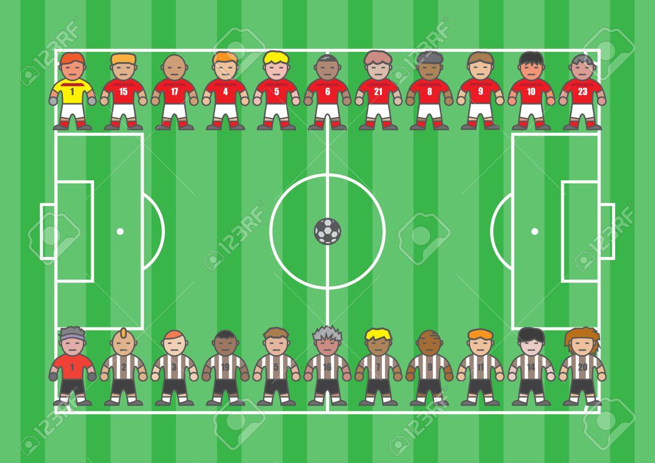 Footballer cartoon soccer player in flat style - 38964265