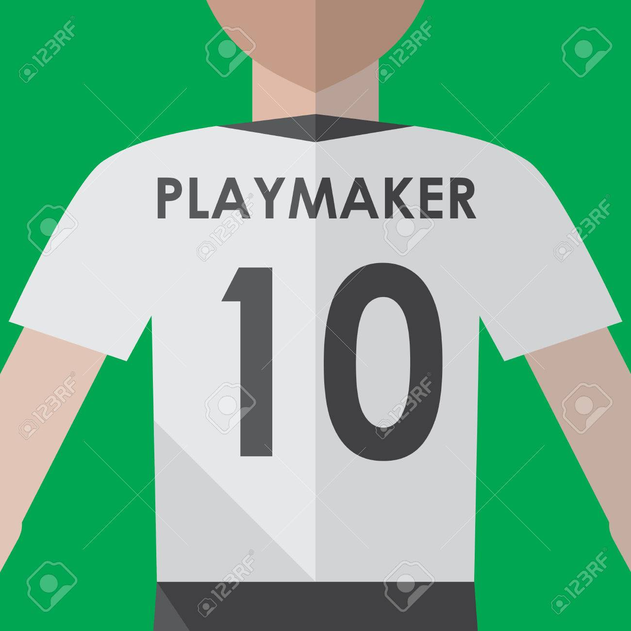 Soccer playmaker number10 flat graphic - 40618517