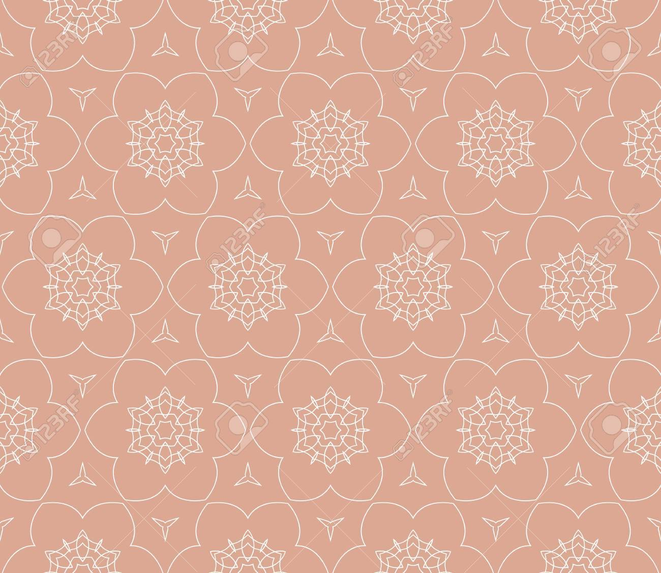 Seamless Patterns Abstract Floral Geometric Texture Ornament
