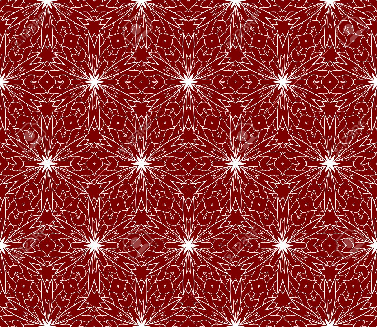 floral lace ornament seamless patterns in arabian style vector