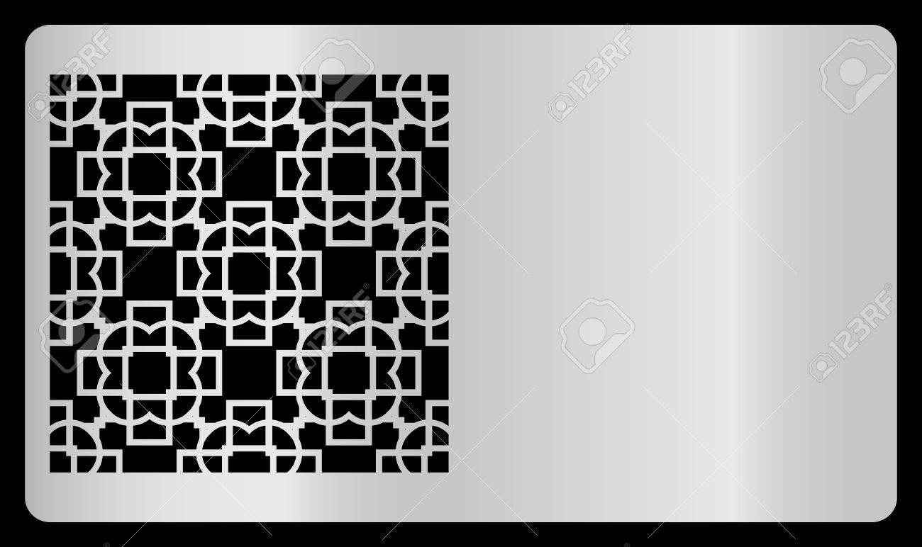 Modele De Carte Visite Decoupe Laser Design Argente