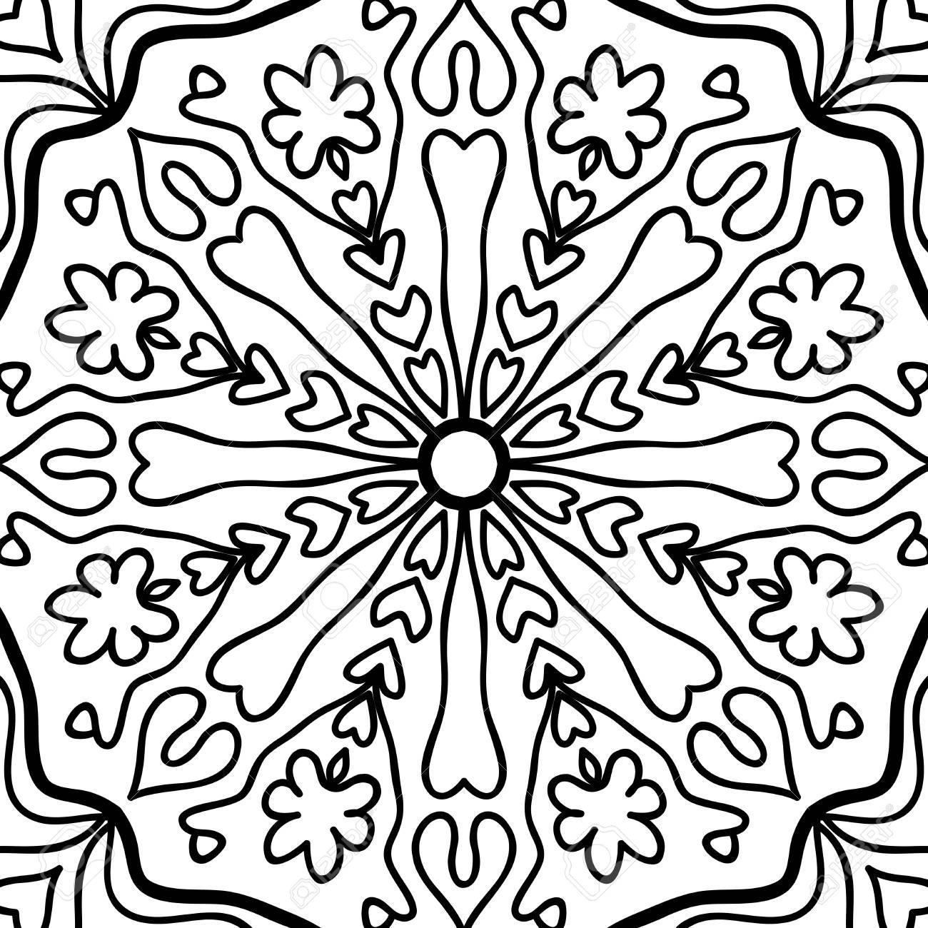 oriental floral pattern vector illustration hand drawn henna rh 123rf com floral pattern vector background floral pattern vector all free download
