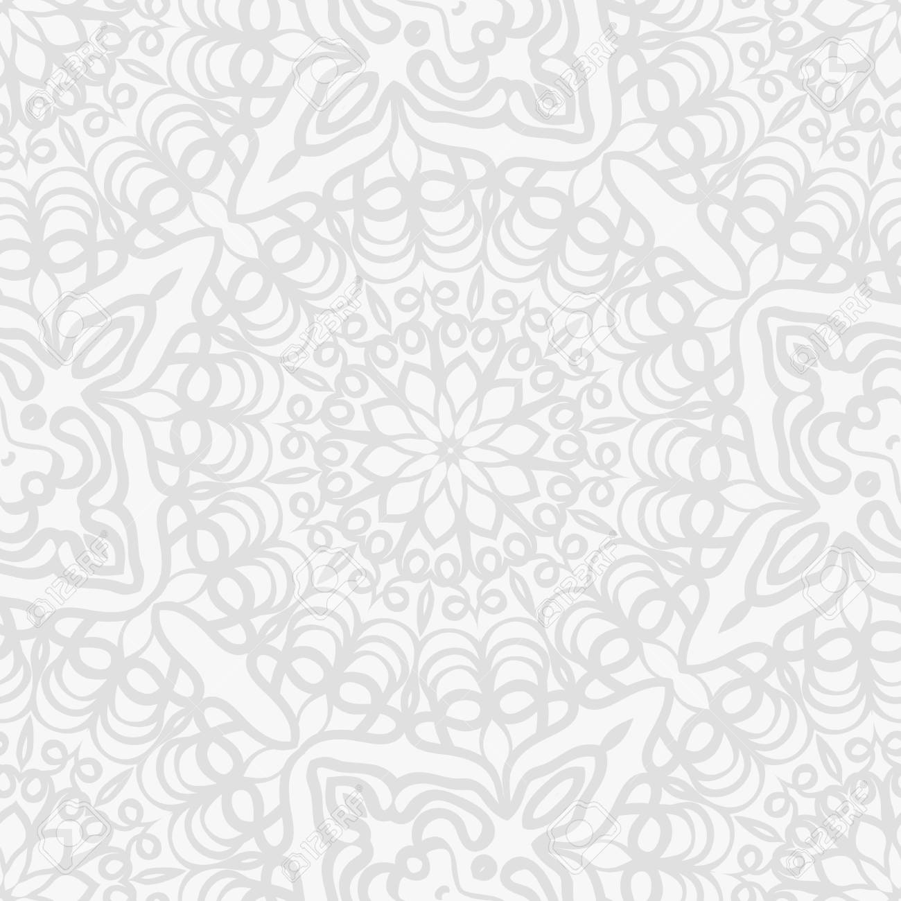 Background For Wedding Invitation Card With Henna Mehndi Floral