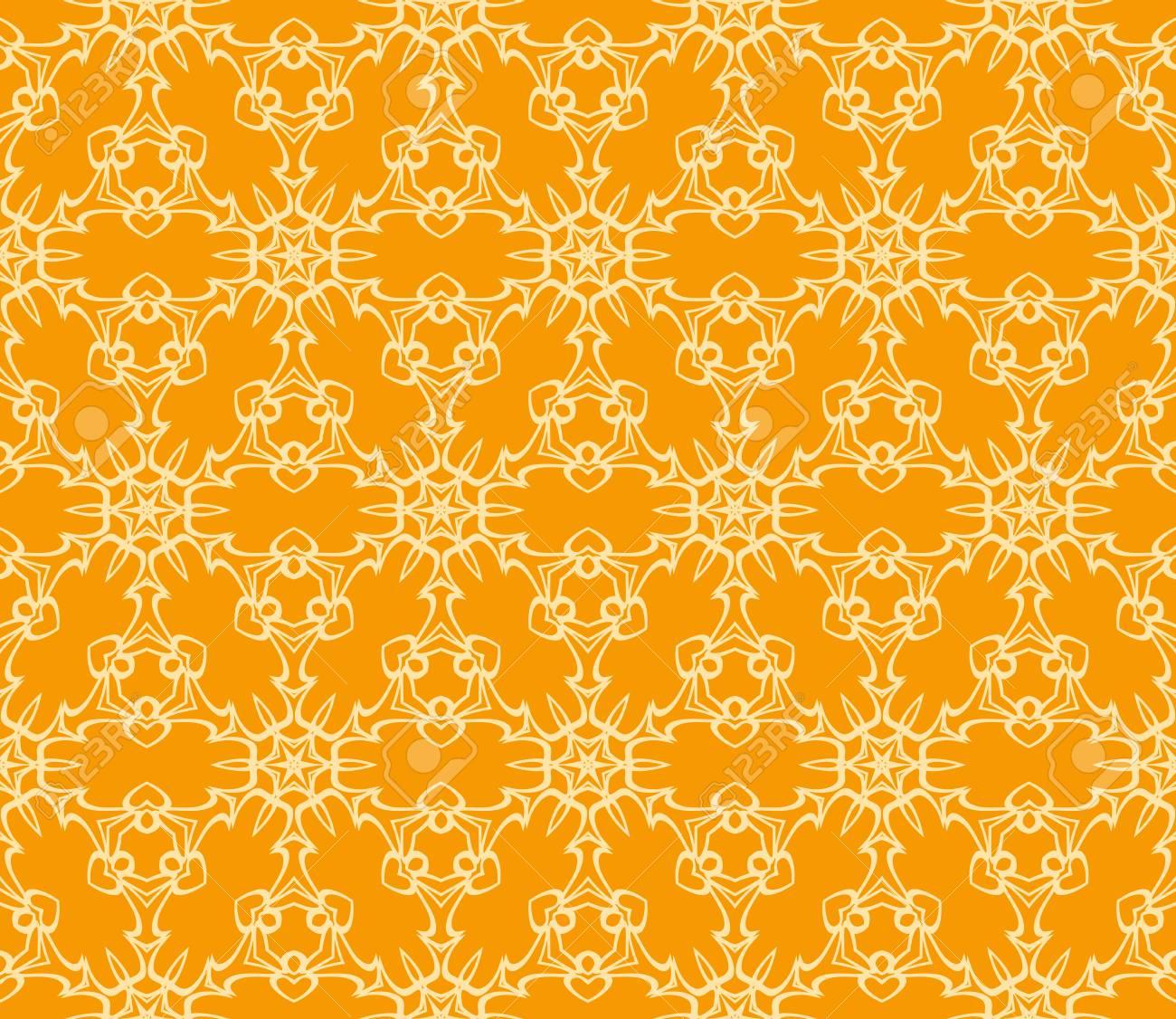 98879780 floral pattern vector illustration orange color for design wallpaper background fills fill card bann