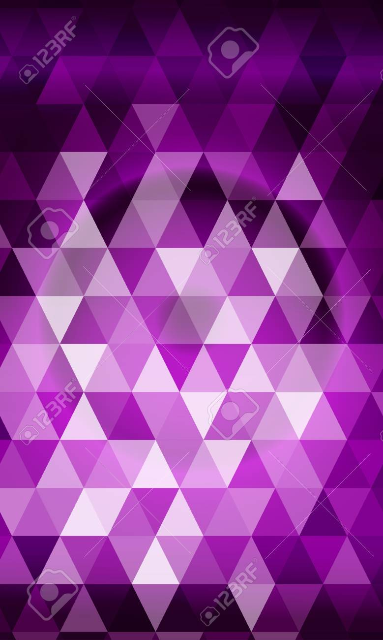 purple color polygon background. triangle geometrical pattern