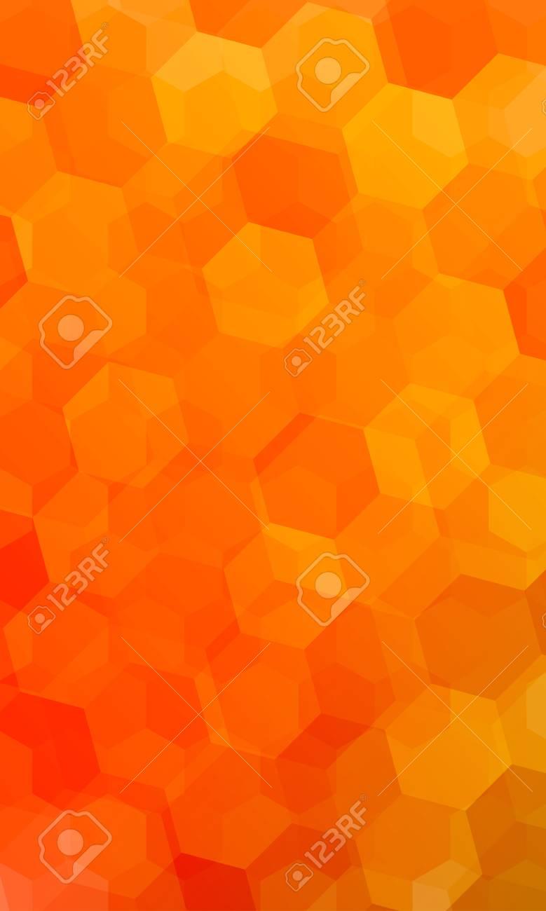 99871341 beautiful light orange color geometry background vector illustration polygonal pattern design for ba