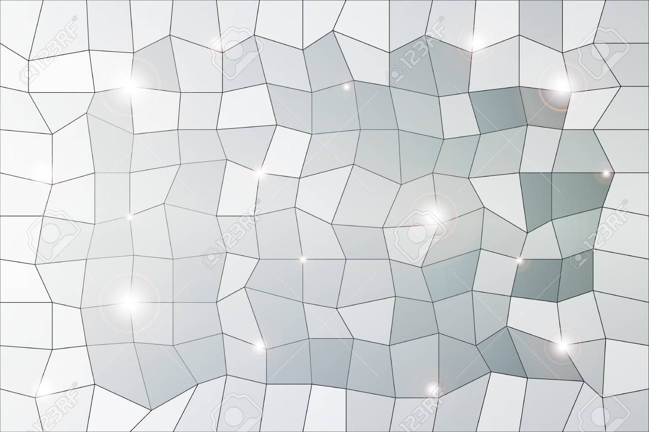 Polygon Background Of Silver Color With A Pronounced Central