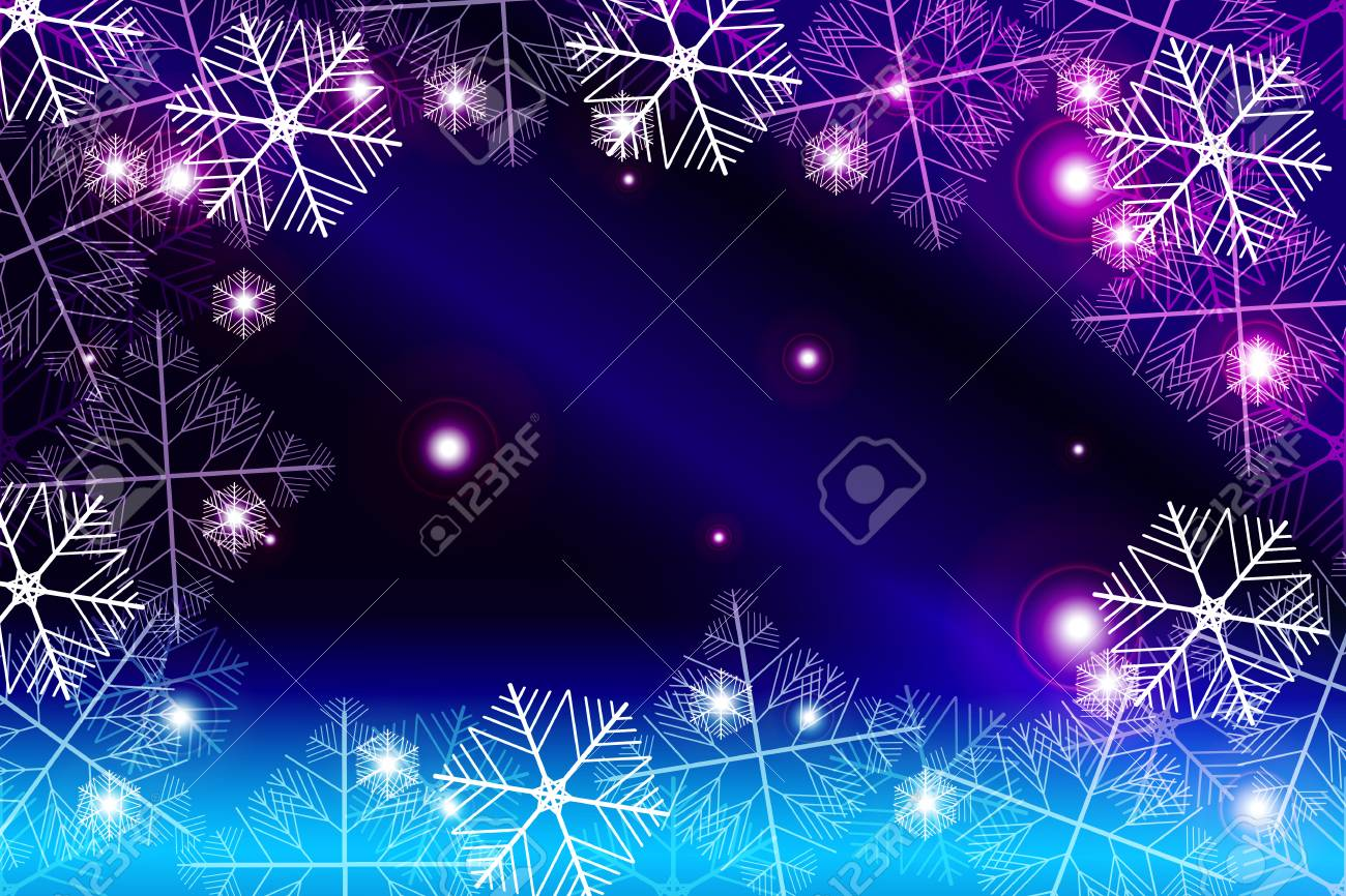 red and purple gradient new year background white snowflakes vector illustration mery christmas