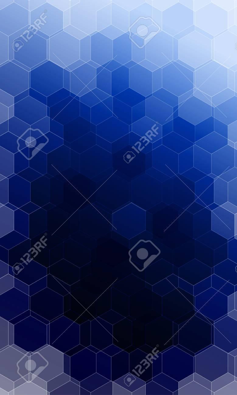 Beautiful Dark Blue Color Hexogonal Background Vector