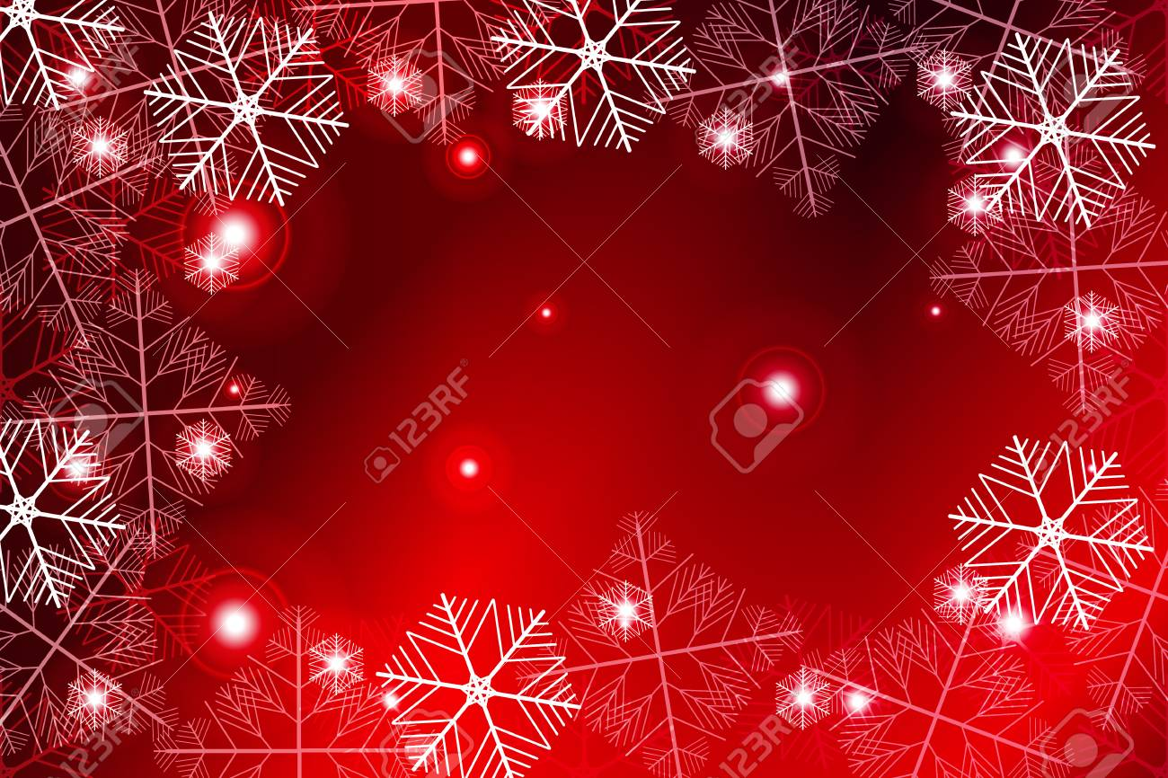 red gradient new year background white snowflakes on red vector illustration mery christmas