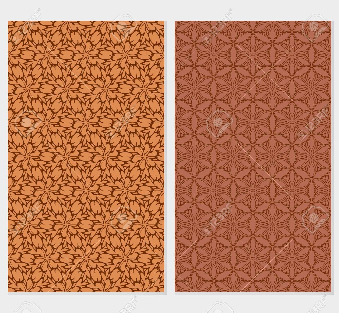 Set Of Original Floral Patterns Vector Illustration For Design