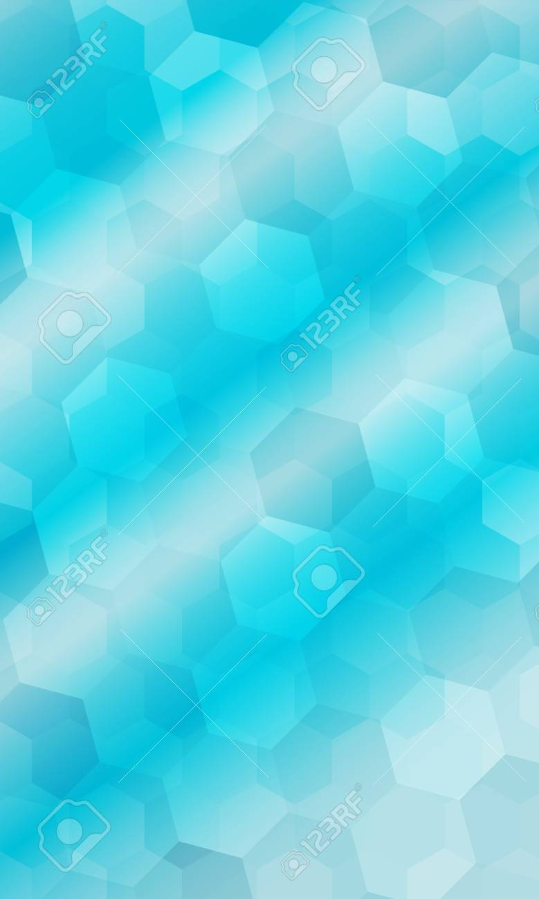Beautiful Light Blue Color Geometry Background Vector Illustration