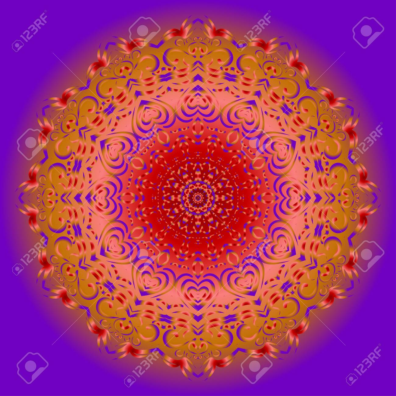 Flower Mandala. Printable Package Decorative Elements. Coloring ...