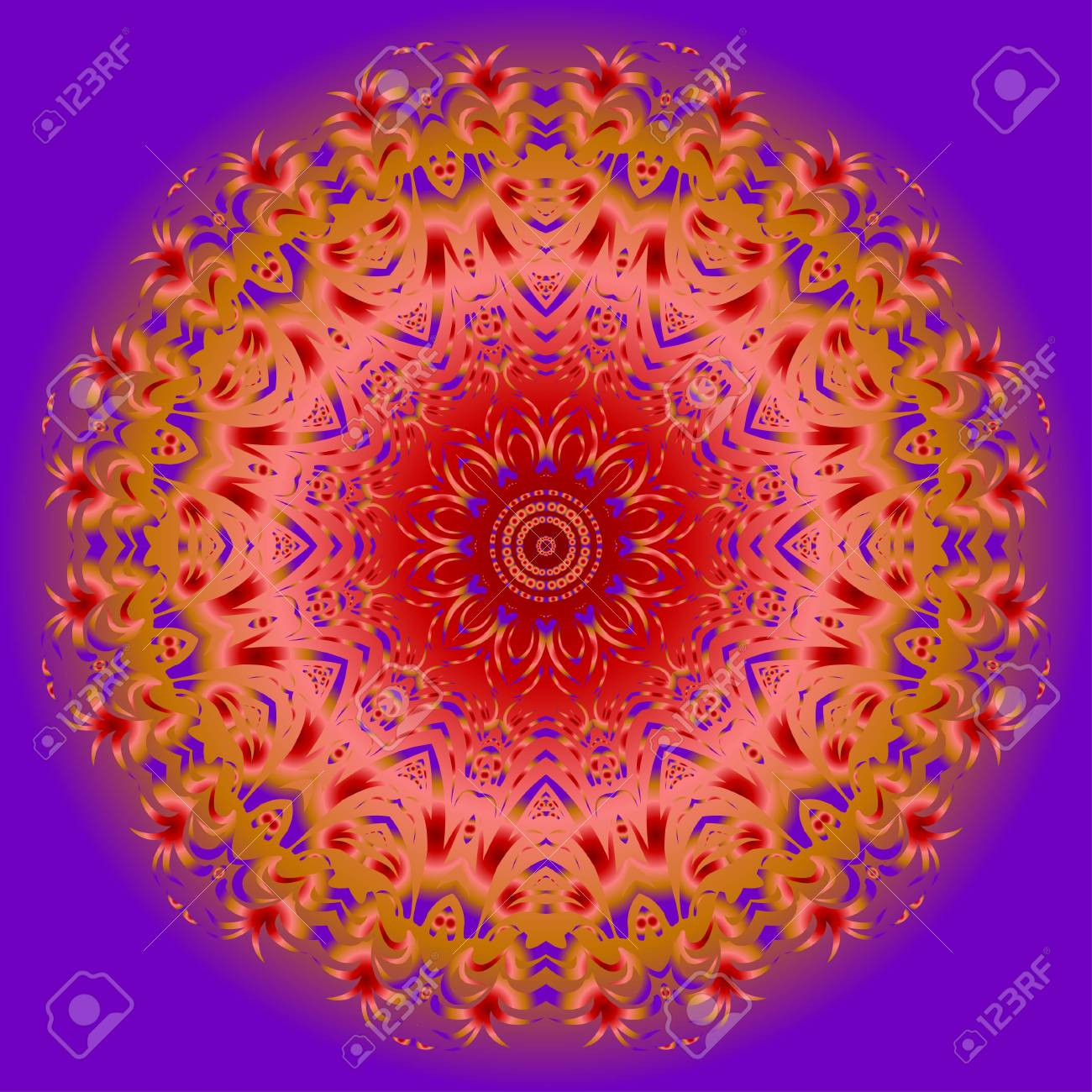 Flower Mandala. Printable Package Decorative Elements. Coloring ...