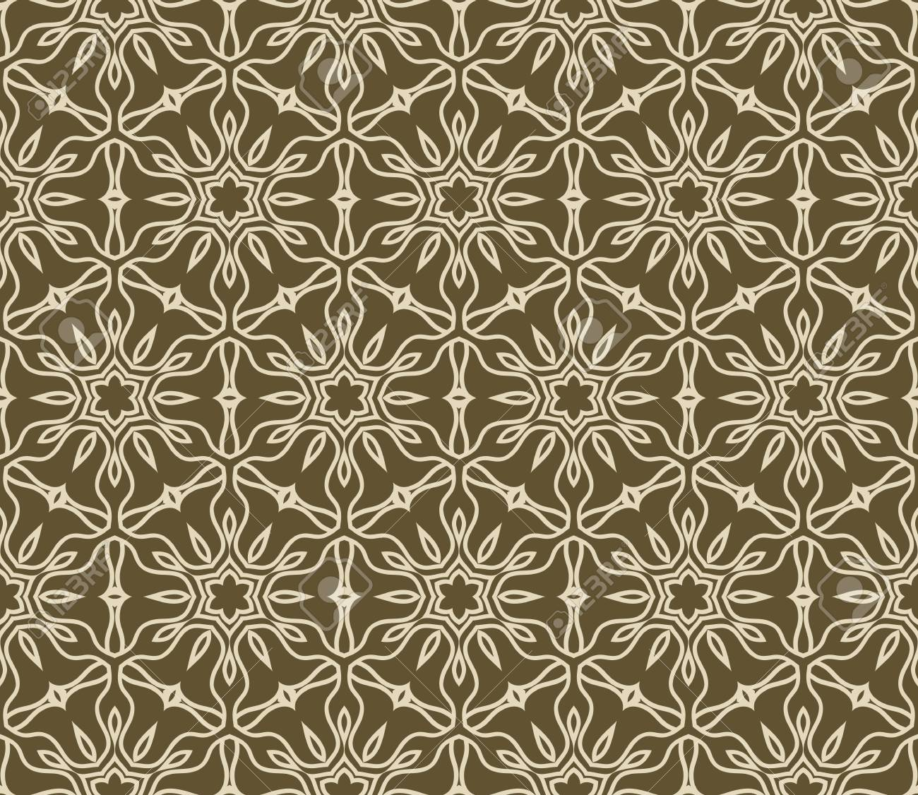 Seamless Lace Floral Background For Interior Decoration Wallpaper Fashion Design Vector Illustration