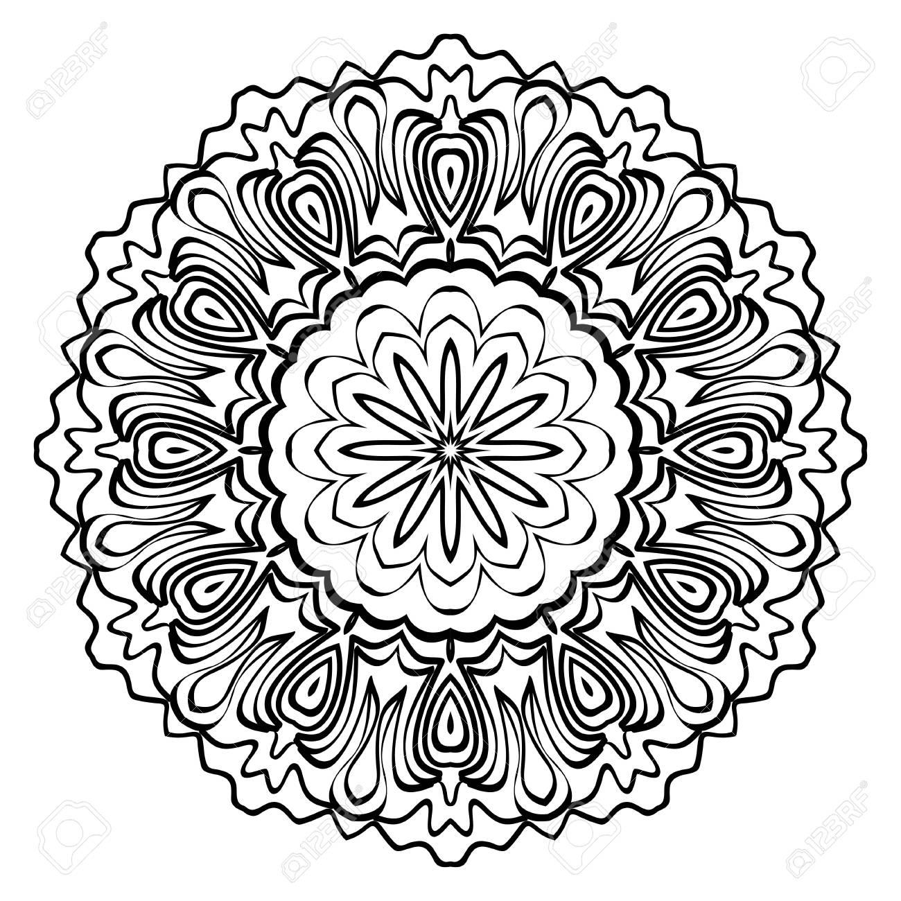 Modern Decorative Cicle Shapes. Floral mandala. vector illustration. - 109749019