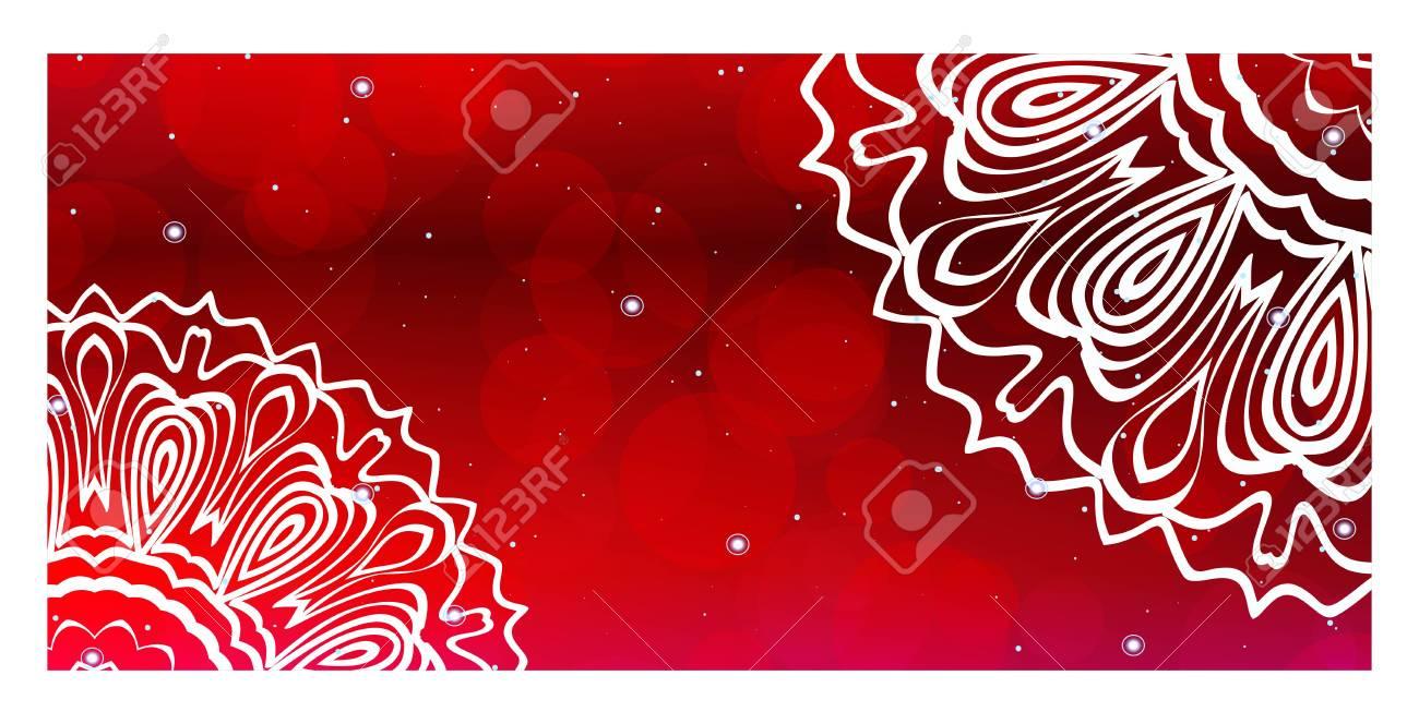 Vector Mandala Pattern Template For Flyer Or Invitation Card Design
