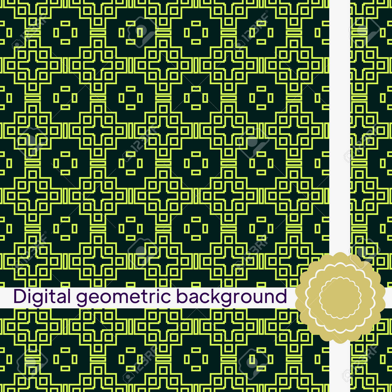 Seamless texture of different floral elements, triangles and other geometric shapes. For the design, printing, wallpaper. Vector illustration. - 167216131