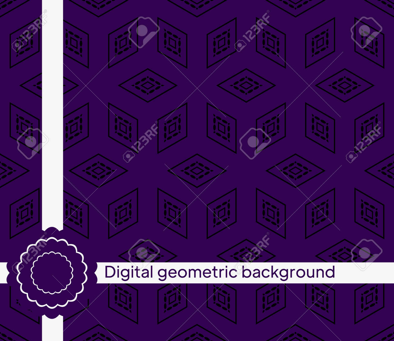 The geometric abstract pattern. Seamless vector background. - 167216179