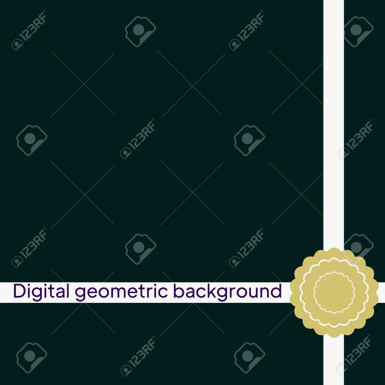 Vector seamless pattern, geometric background - 167216198