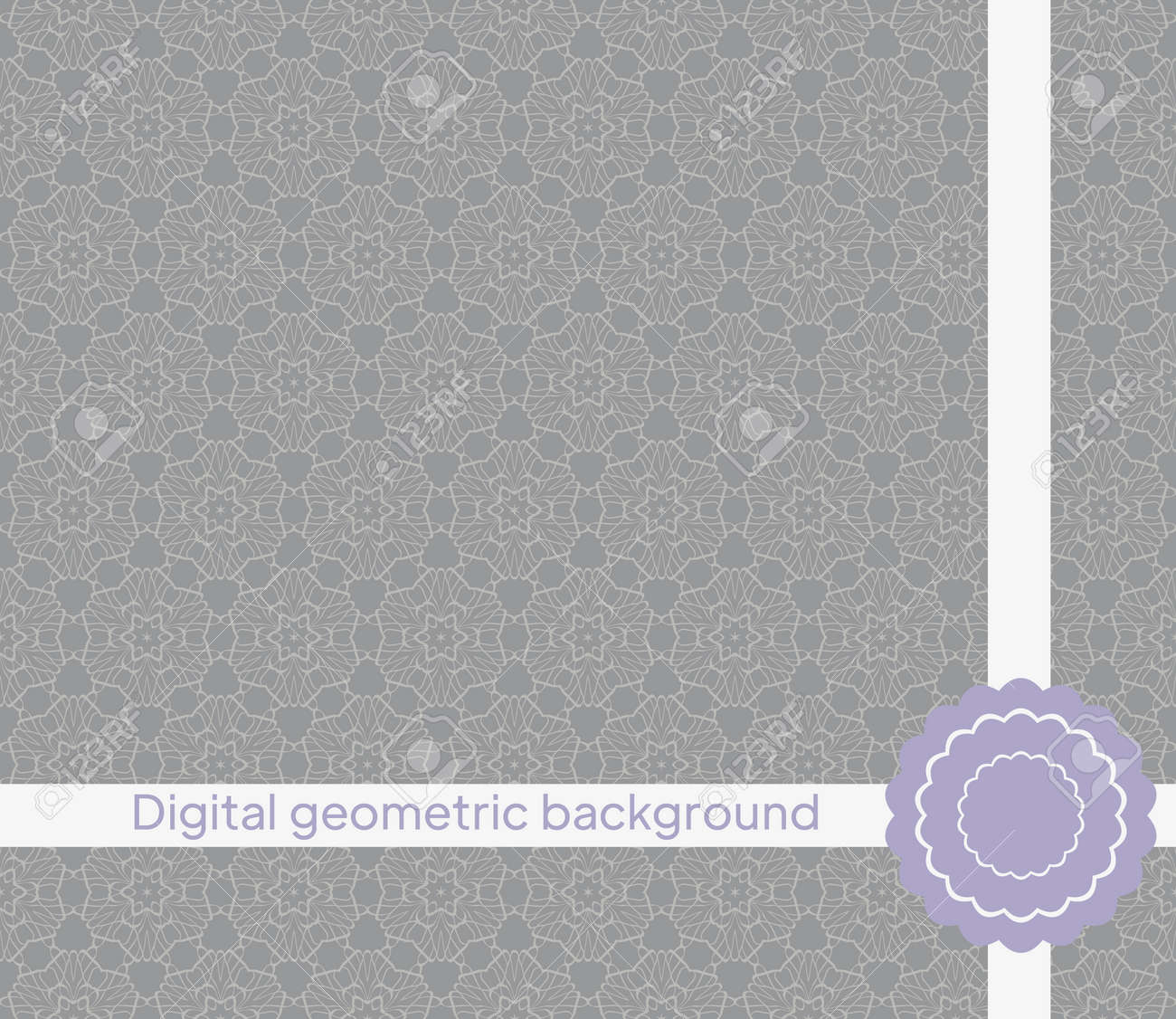 mirror seamless pattern with abstract floral and leave style. Repeating sample figure and line. For modern interiors design, wallpaper, textile industry. Vector illustration - 168017573
