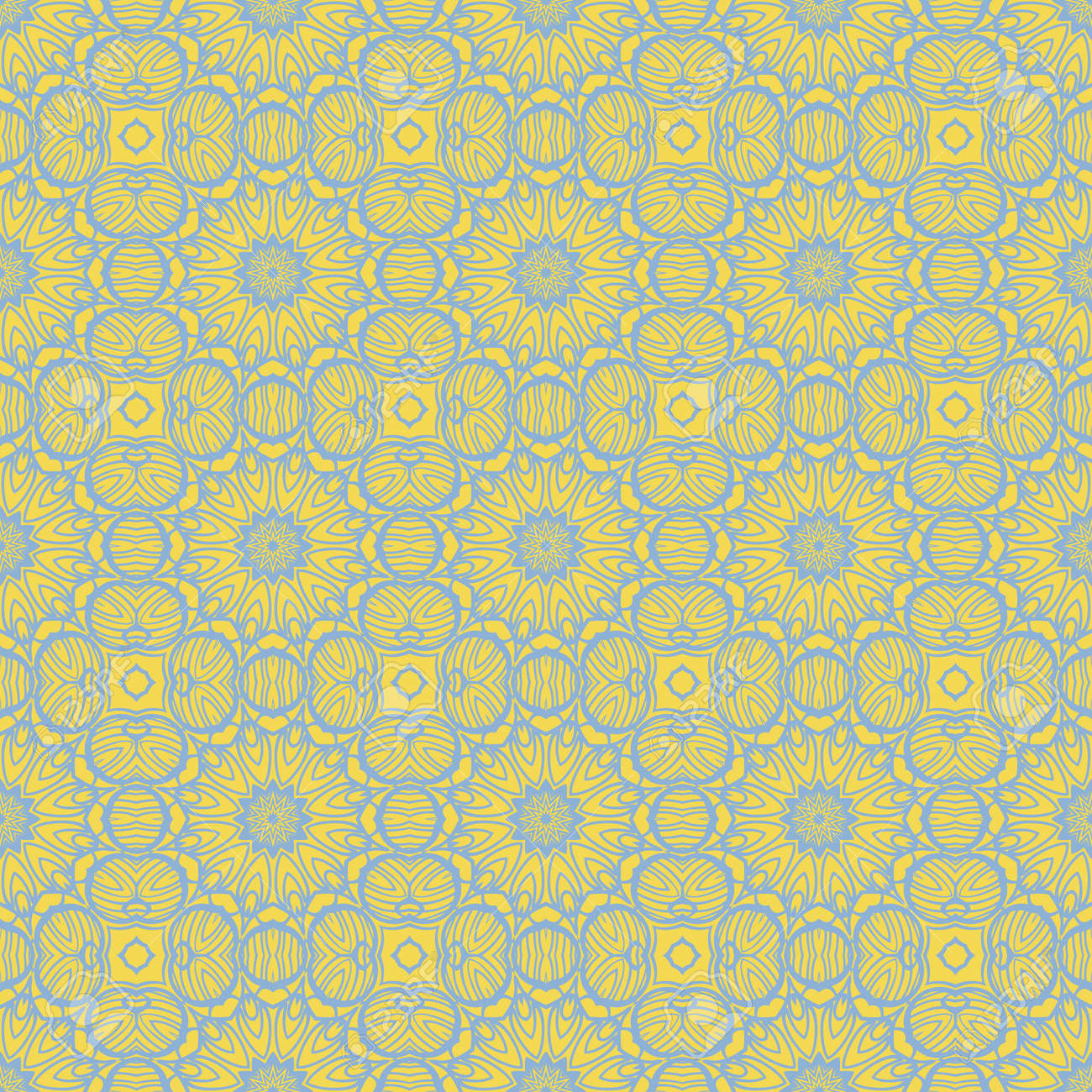 mirror seamless pattern with abstract floral and leave style. Repeating sample figure and line. For modern interiors design, wallpaper, textile industry. Vector illustration - 168017577