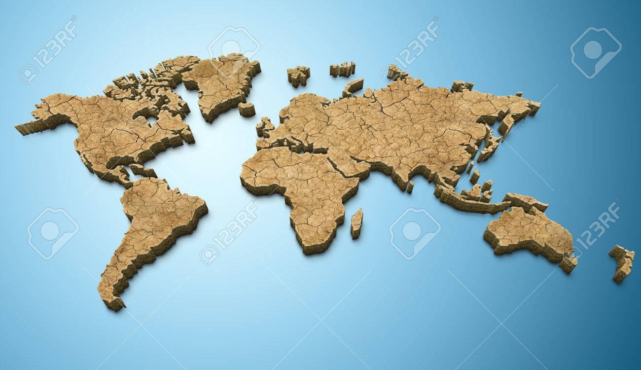 3d world map dry texture applied stock photo picture and royalty 3d world map dry texture applied stock photo 43440980 gumiabroncs Images