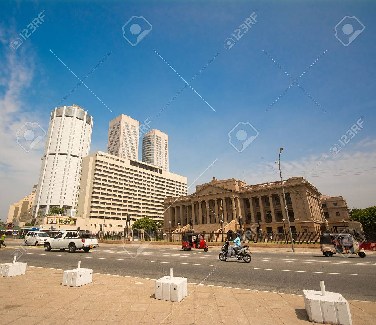 Colombo 15 Juni World Trade Center Und Bank Of Ceylon Gebäude Am
