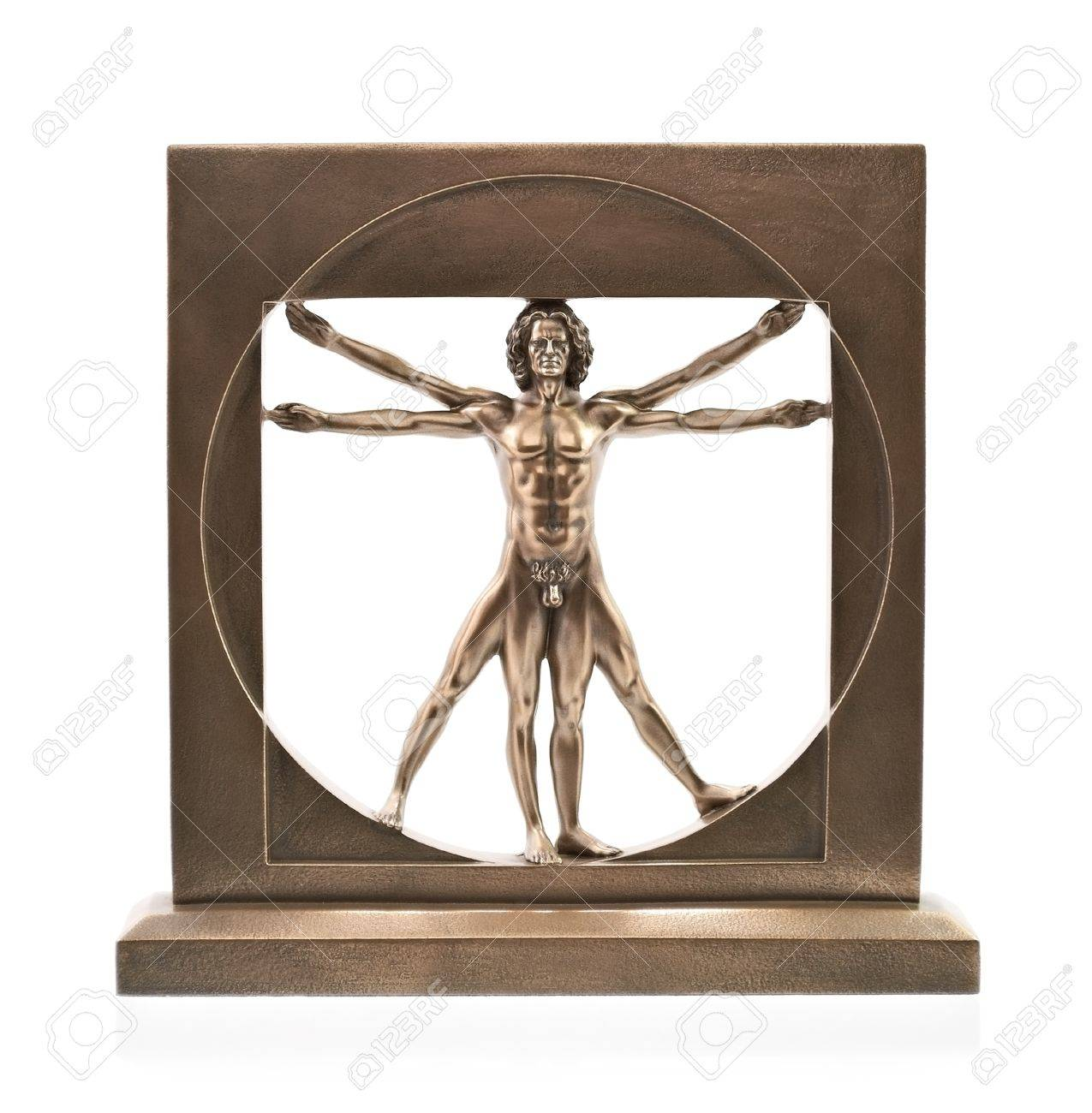 Vitruvian man of Leonardo Da Vinci Stock Photo - 18192689