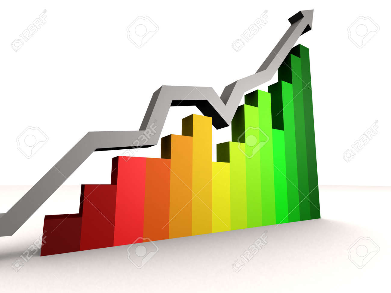 rising statistic Stock Photo - 543486