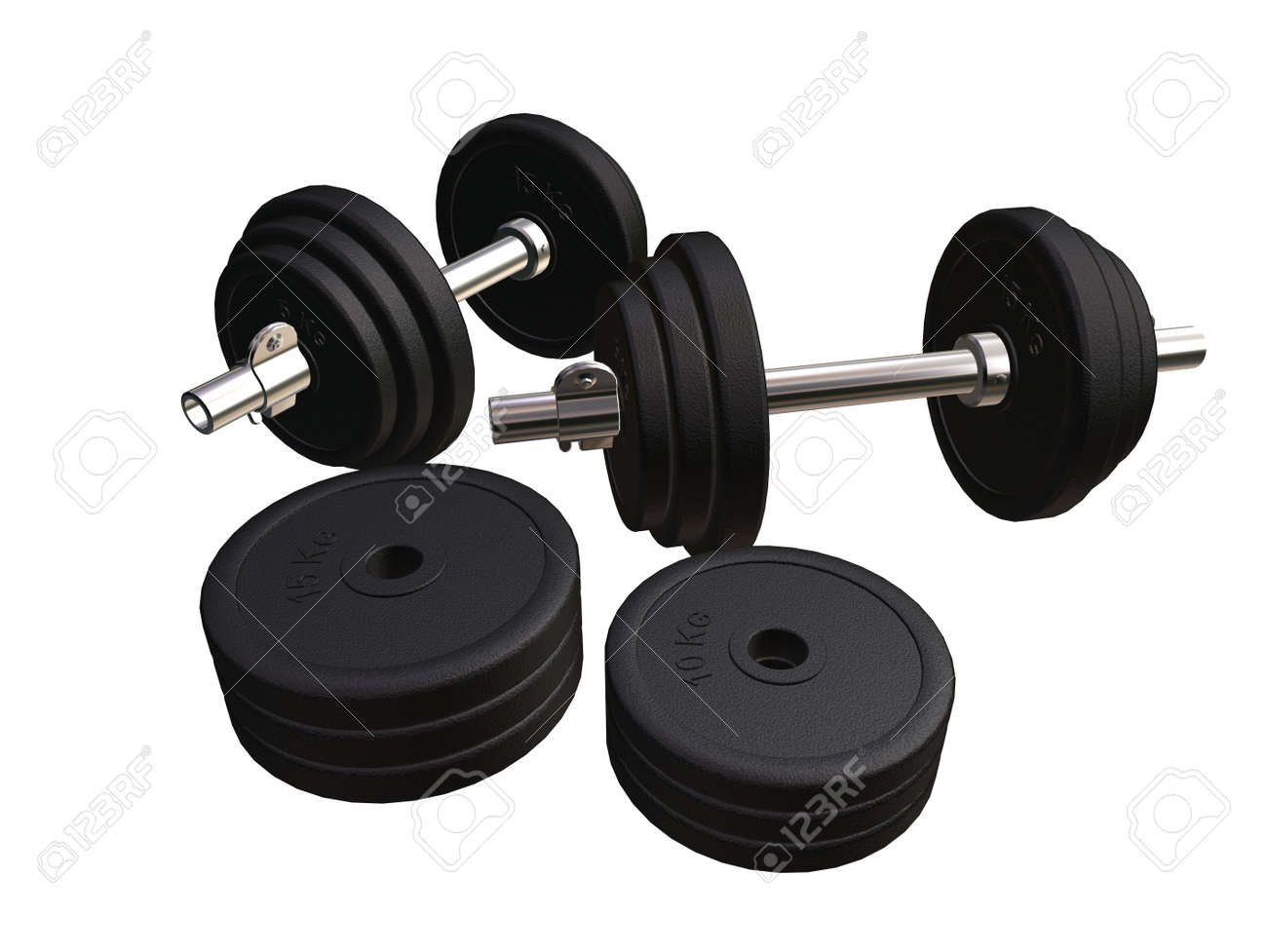 barbells and weights Stock Photo - 546663