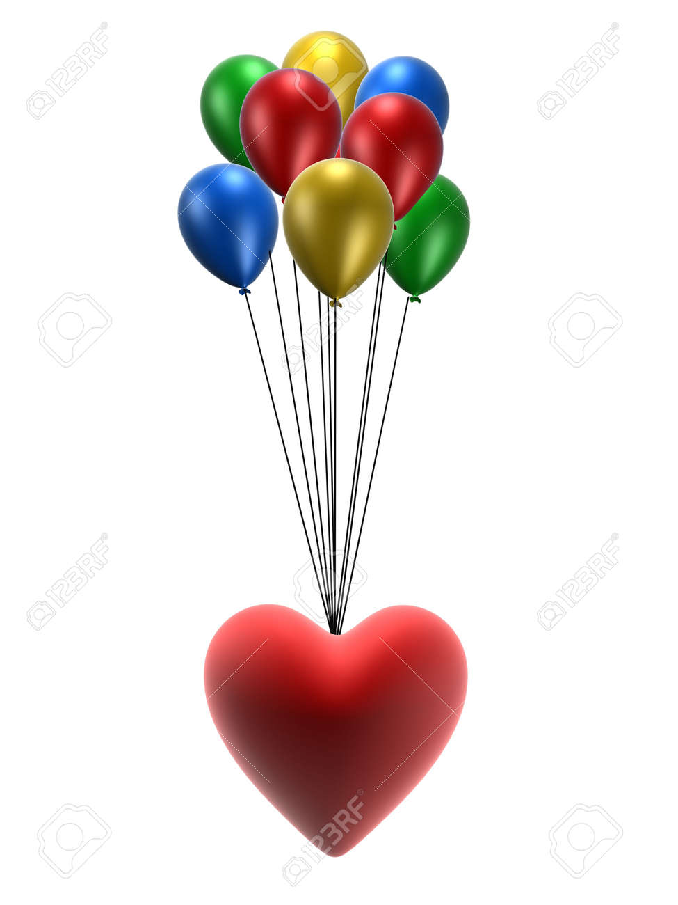 heart and balloons Stock Photo - 748885