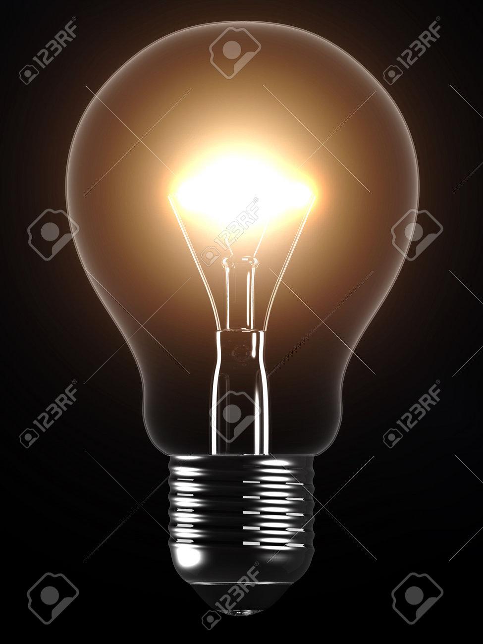 glowing light bulb Stock Photo - 2846426