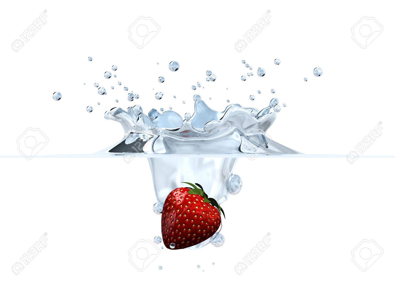 strawberry splash Stock Photo - 2873857