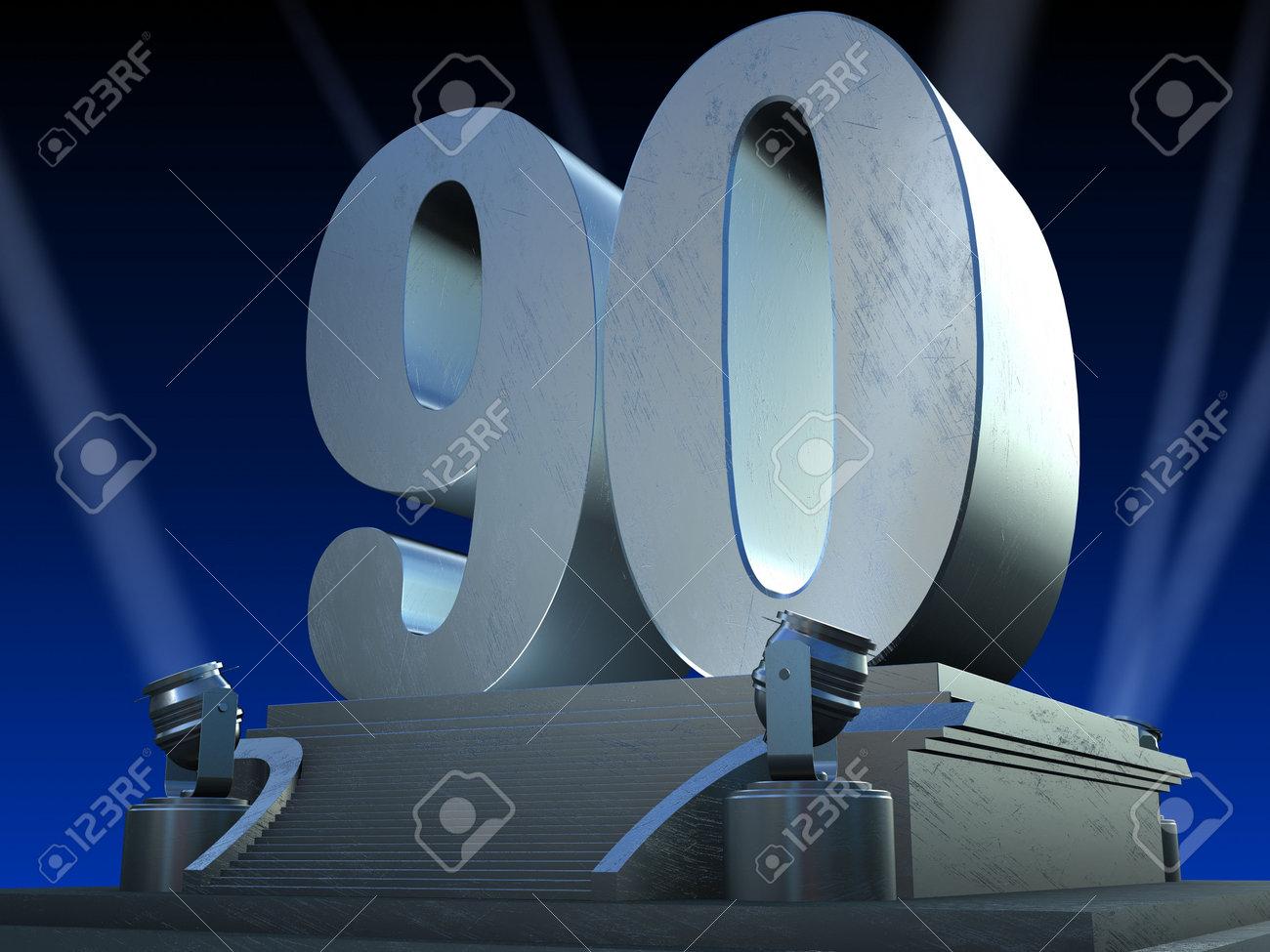 silver 90 on a platform - film style Stock Photo - 6244194