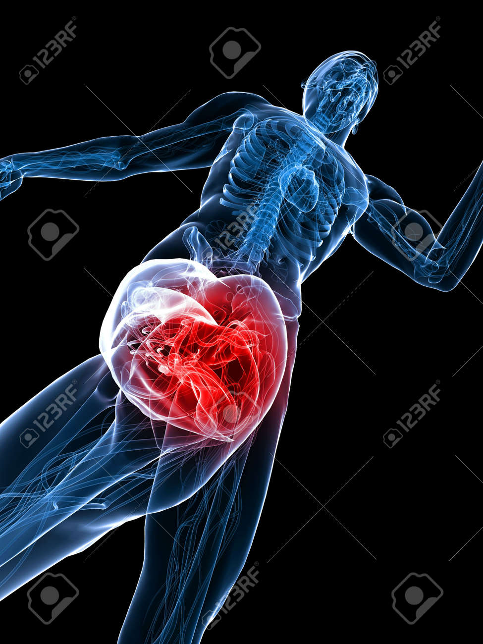 jogger - highlighted knee Stock Photo - 6833718
