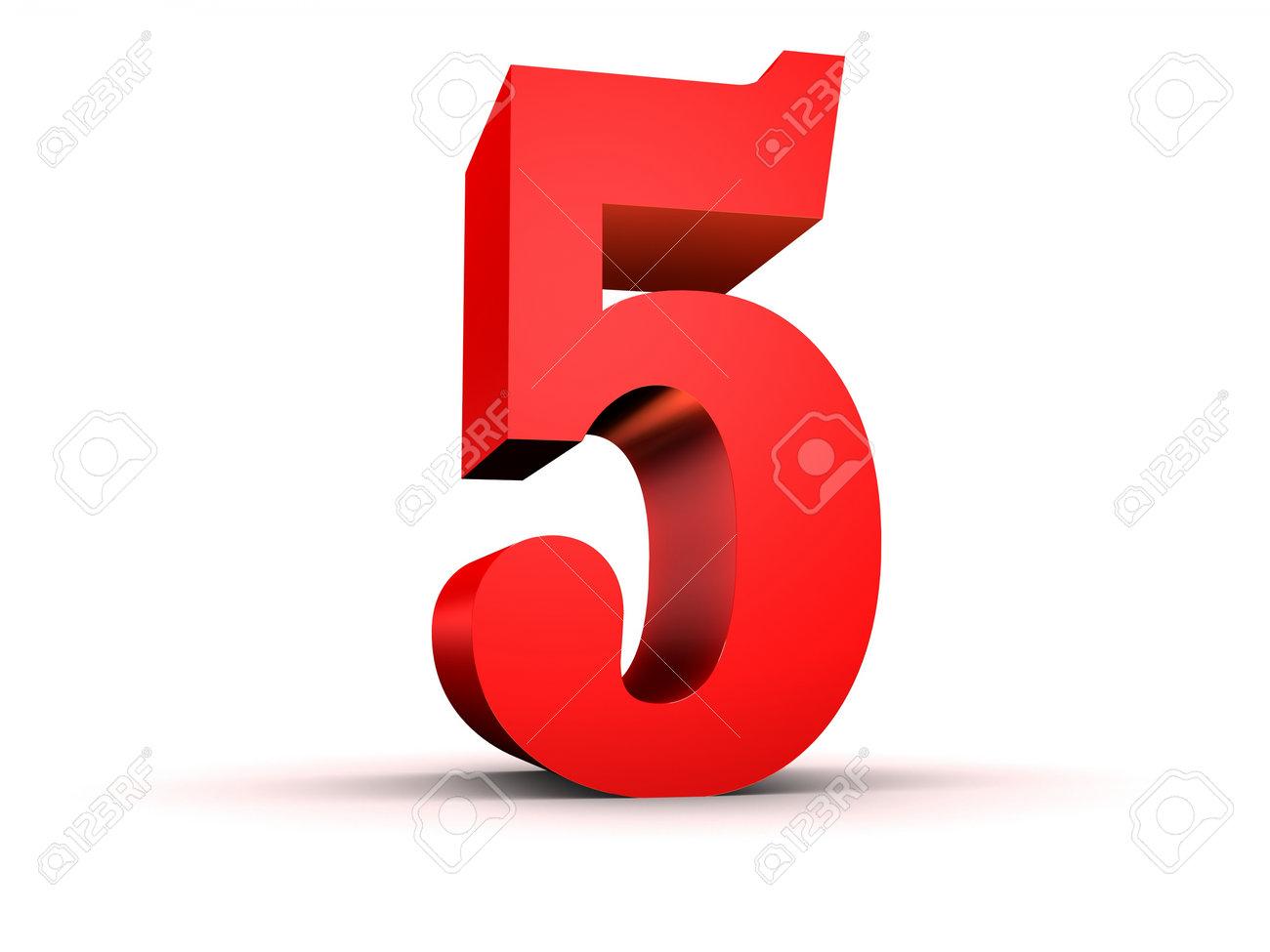 赤の 3 d 数 5 ロイヤリティーフリーフォト ピクチャー 画像 ストック