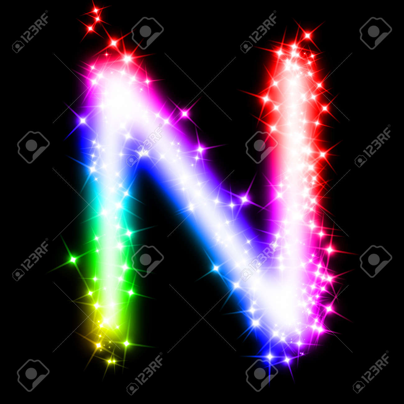 colorful alphabet letter - n stock photo - 11062698