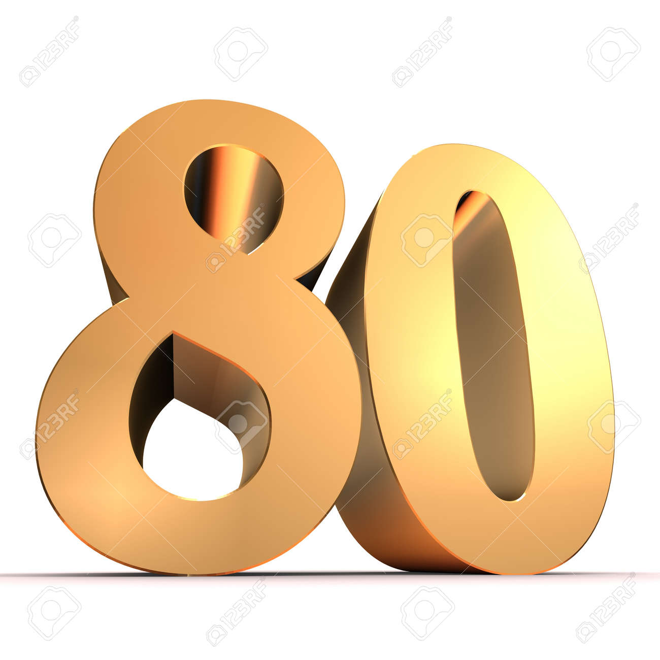 golden number - 80 Stock Photo - 11022360