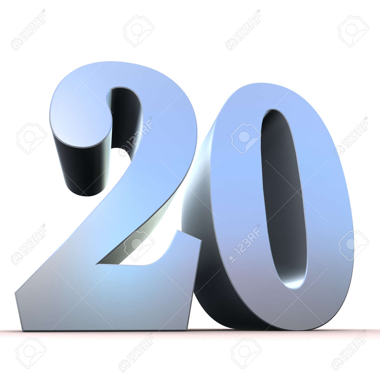 silver number - 20 Stock Photo - 11022346
