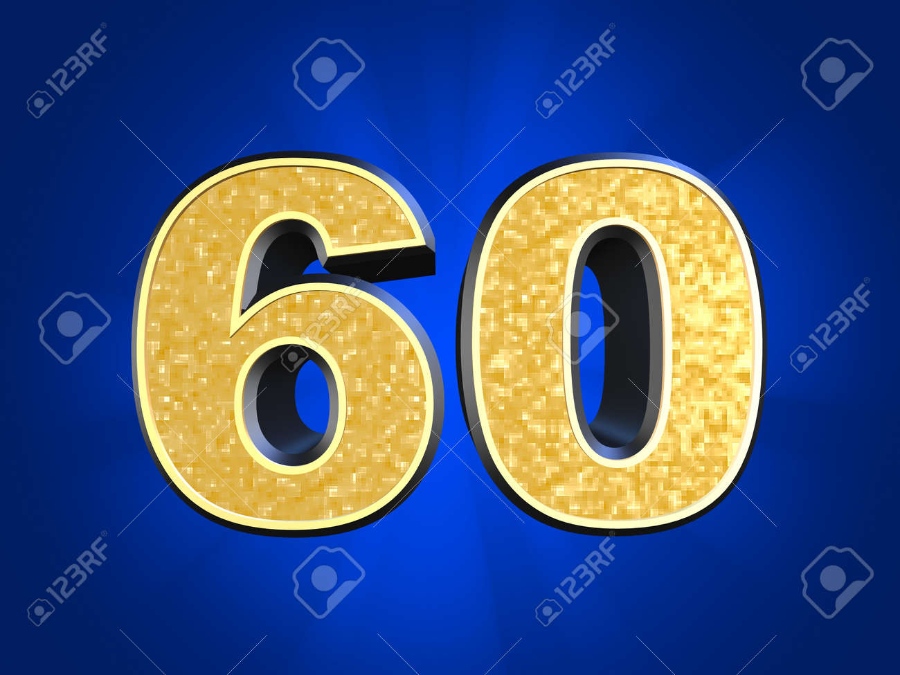 golden number 60 Stock Photo - 11022480