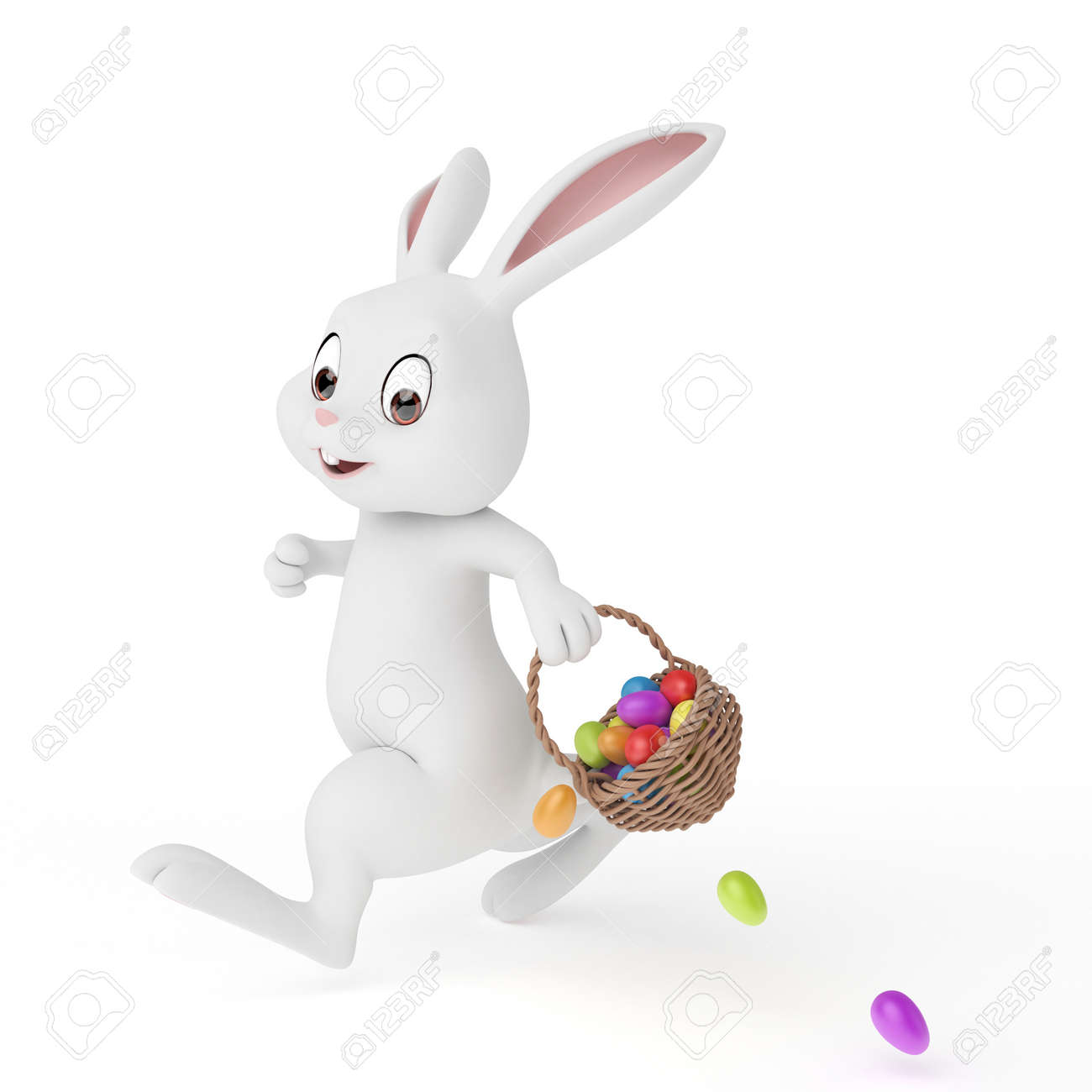 3d rendered illustration of a cute easter bunny Stock Photo - 12585768